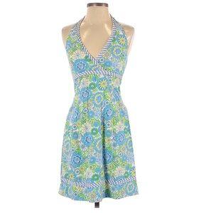 Lilly Pulitzer Halter Zebra Floral Dress Size 6